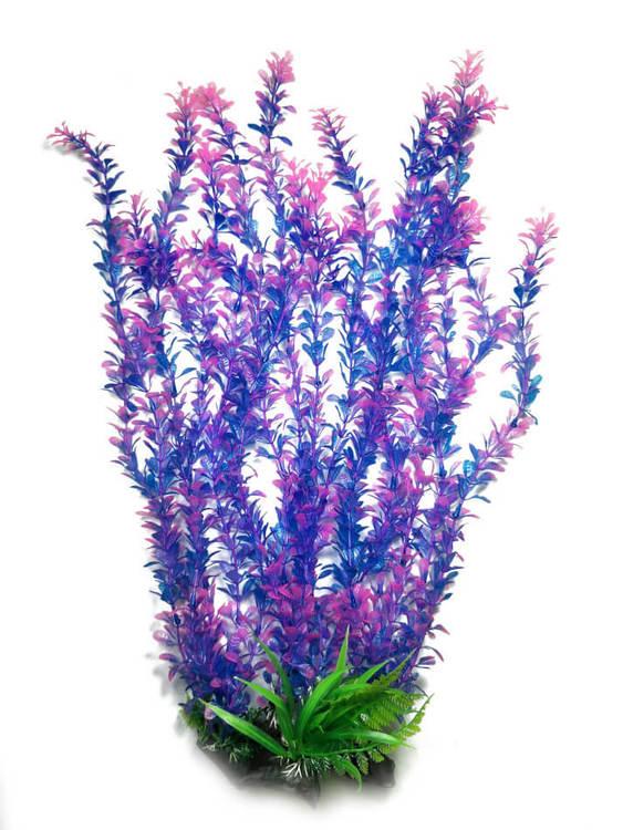 Plastväxt Rotala bonsai blå/lila med rosa detaljer 55 cm A