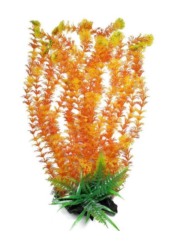 Plastväxt Cabomba orange med grön topp 55 cm A