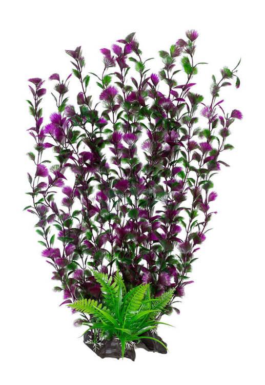 Plastväxt Spikewort grön med lila detaljer 55 cm A