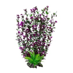 Plastväxt Spikewort grön med lila detaljer 55 cm