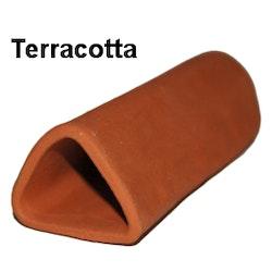 Malgrotta med stängd ände - Trekantig - Terracotta