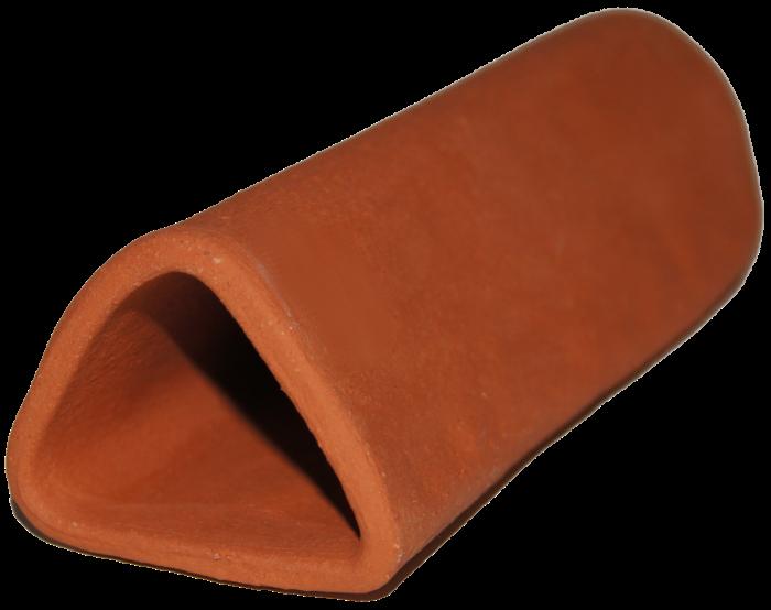 Malgrotta med stängd ände - Trekantig - Terracotta A