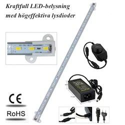 Akvariebelysning - Paket med 1 st LED-list 26 cm