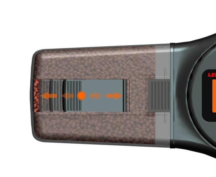 Digital foderautomat - 135ml - Svart F