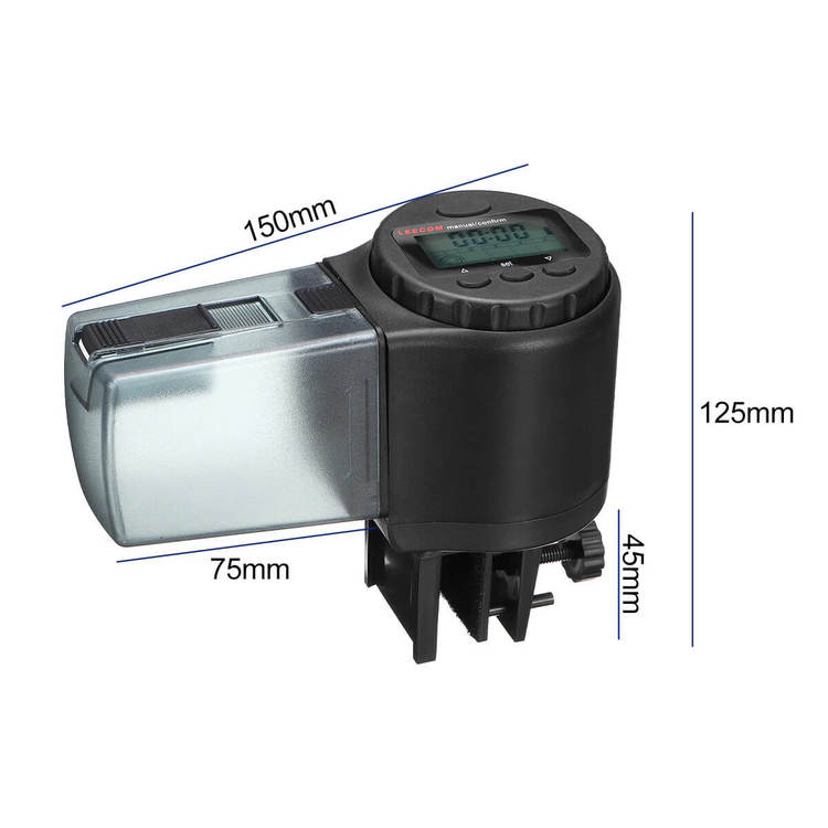 Digital foderautomat - 135ml - Svart E