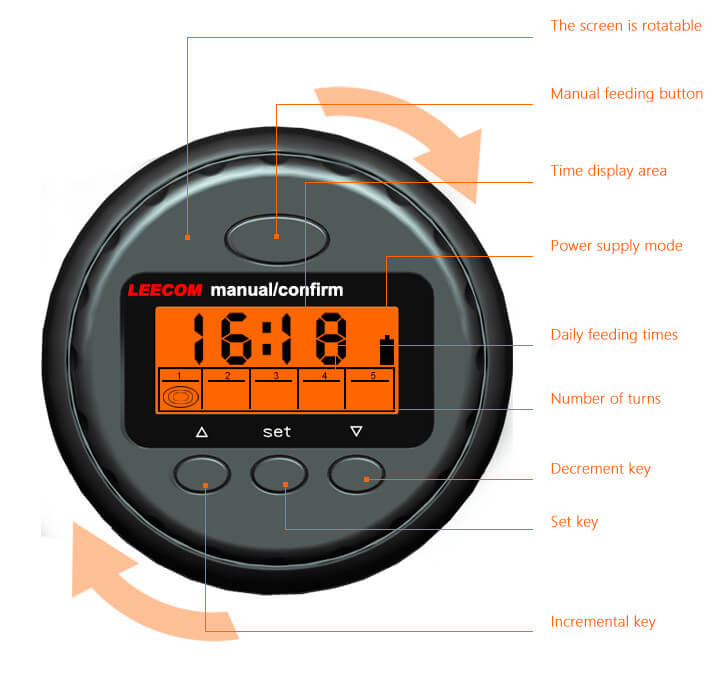 Digital foderautomat - 135ml - Svart D