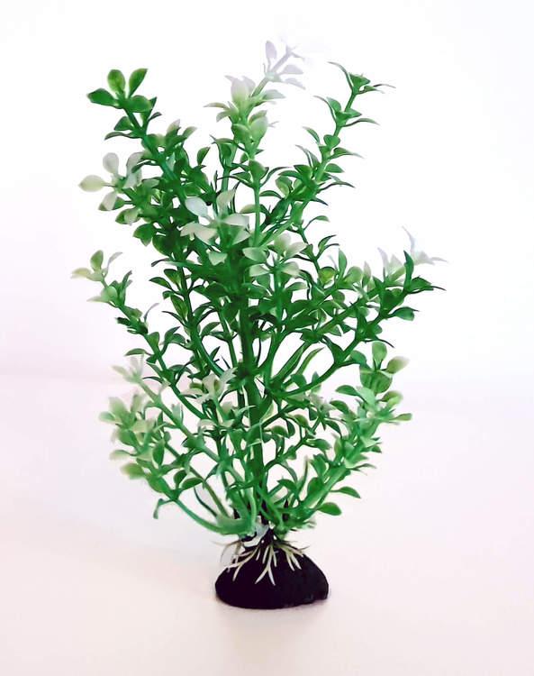 Plastväxt Bacopa grön / vita detaljer 18 cm