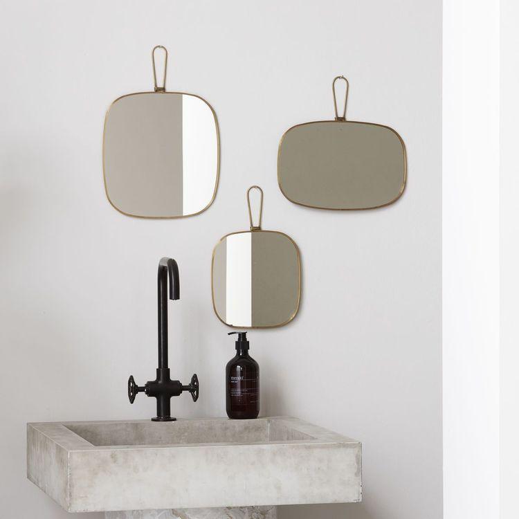 Meraki Spegel med ram, Antik mässing