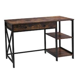 Vasagle Skrivbord med låda och 2 hyllor