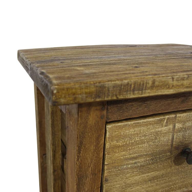 Sängbord massivt återvunnet trä 40x30x51cm