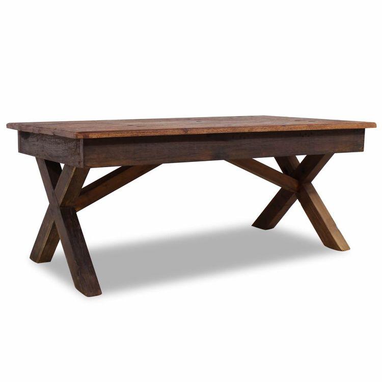 Soffbord i massivt återvunnet trä 110x60x45 cm