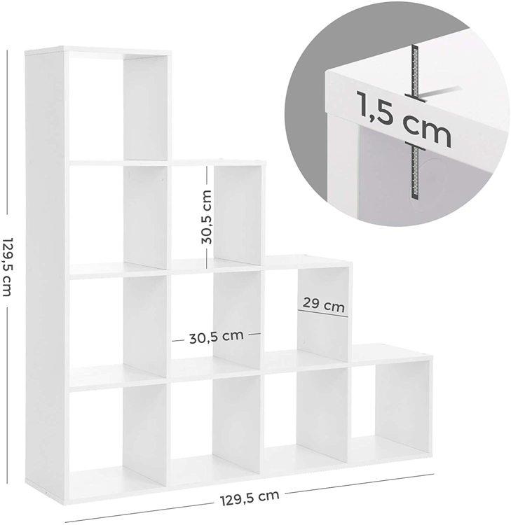 VASAGLE Cube 10-Kuber vit