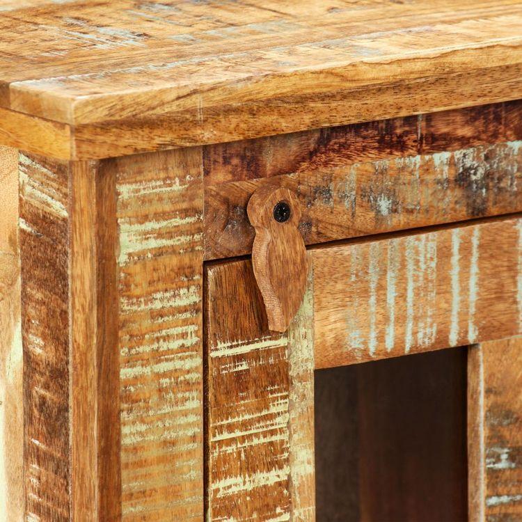 Väggskåp massivt återvunnet trä 44x21x72 cm