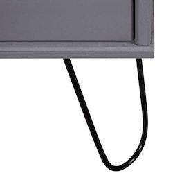 Byrå grå 45x39,5x90,3 cm massiv furu