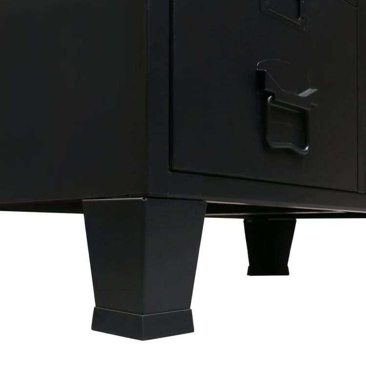 Garderob industriell stil metall 67x35x107 cm svart