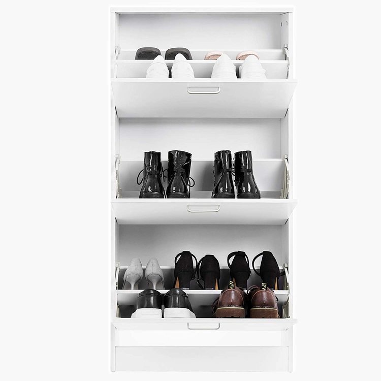 VASAGLE skoskåp 3-lådor vit
