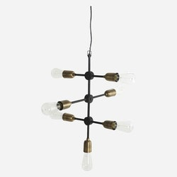 House Doctor Lampa, Molecular, Svart/Mässing