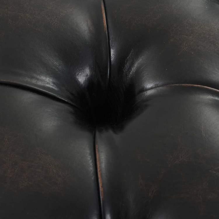 Bänk med klädsel i konstläder 160x40,5x50,5 cm