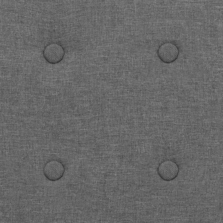 Fåtölj ljusgrå stål och tyg