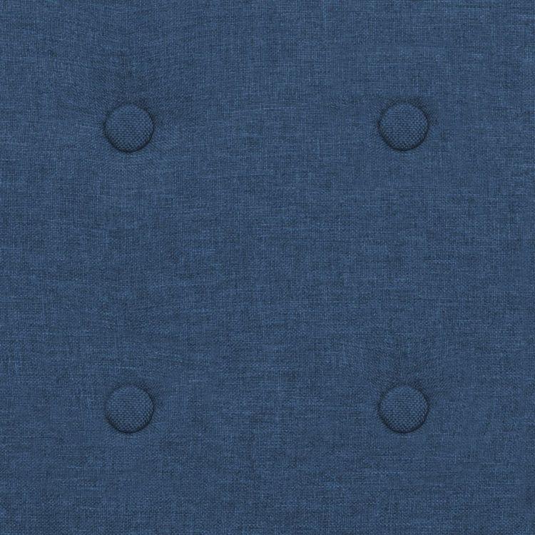 Fåtölj blå stål och tyg