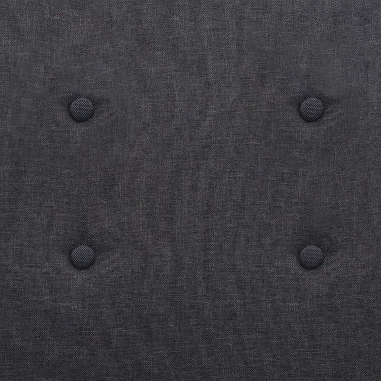 Fåtölj mörkgrå stål och tyg