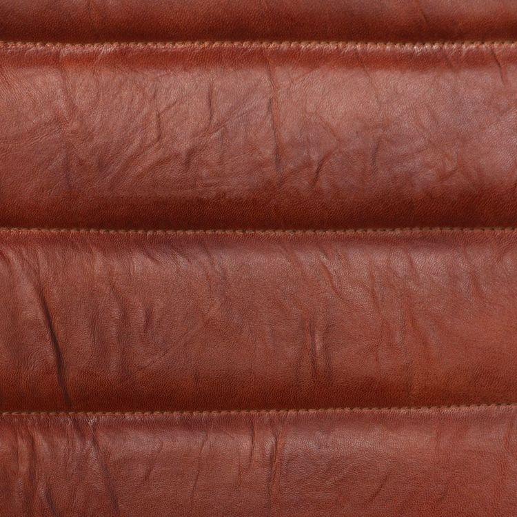 Matstolar 2 st brun äkta läder