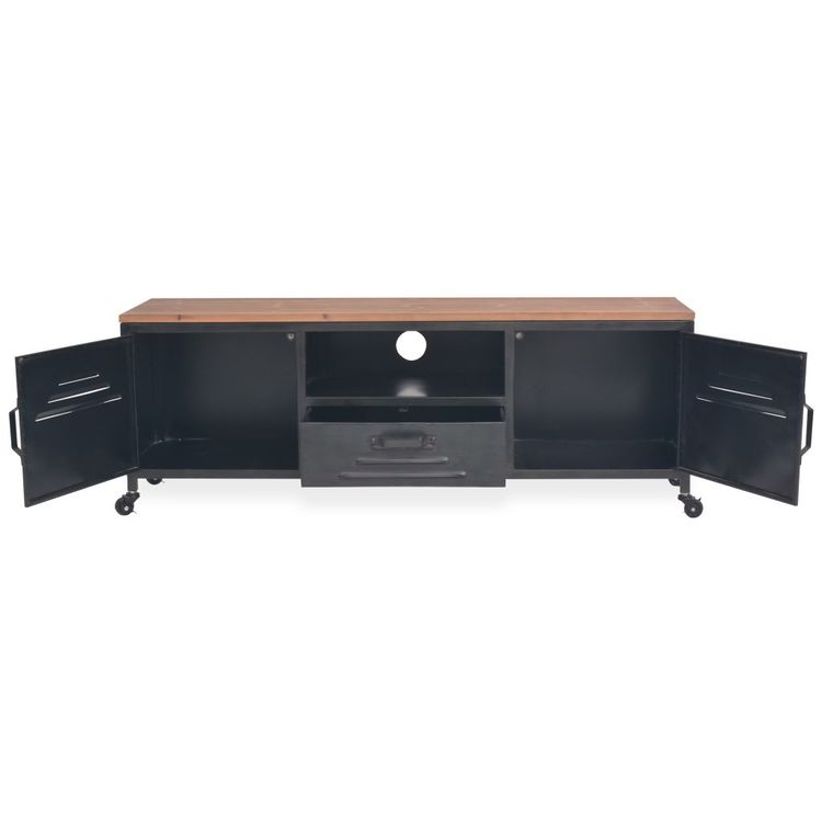 TV-bänk 120x30x43 cm svart