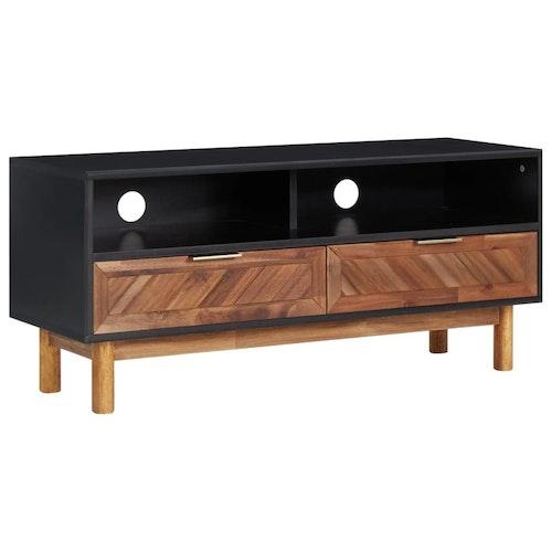 TV-bänk 100x35x45 cm massivt akaciaträ och MDF