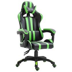 Gamingstol grön konstläder
