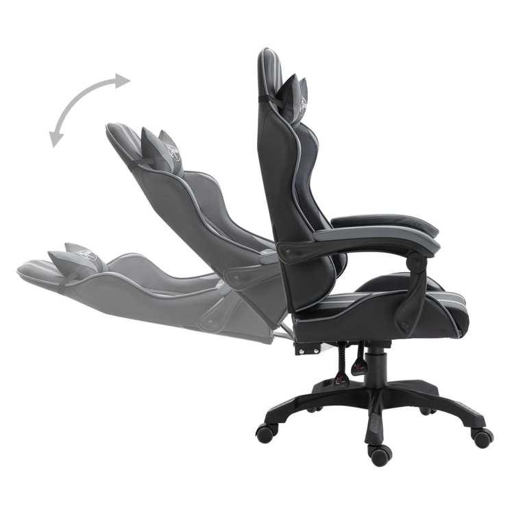 Gamingstol grå konstläder