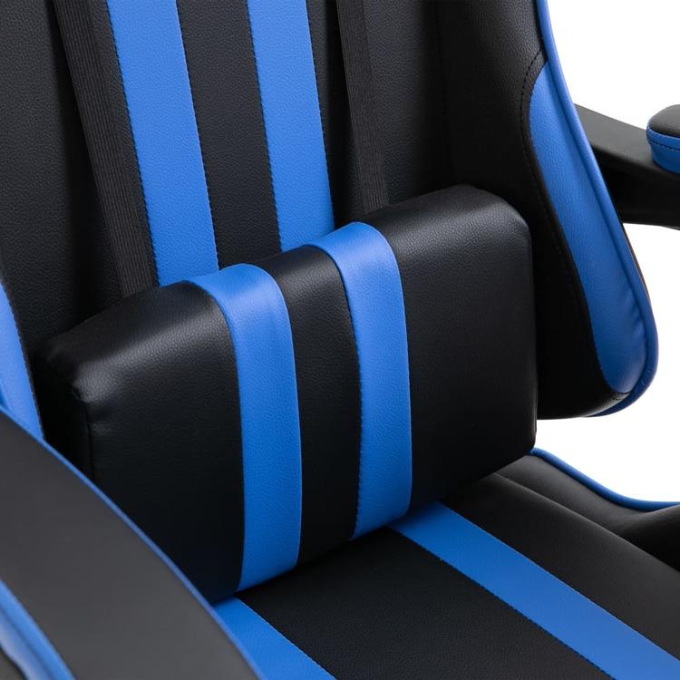 Gamingstol blå konstläder