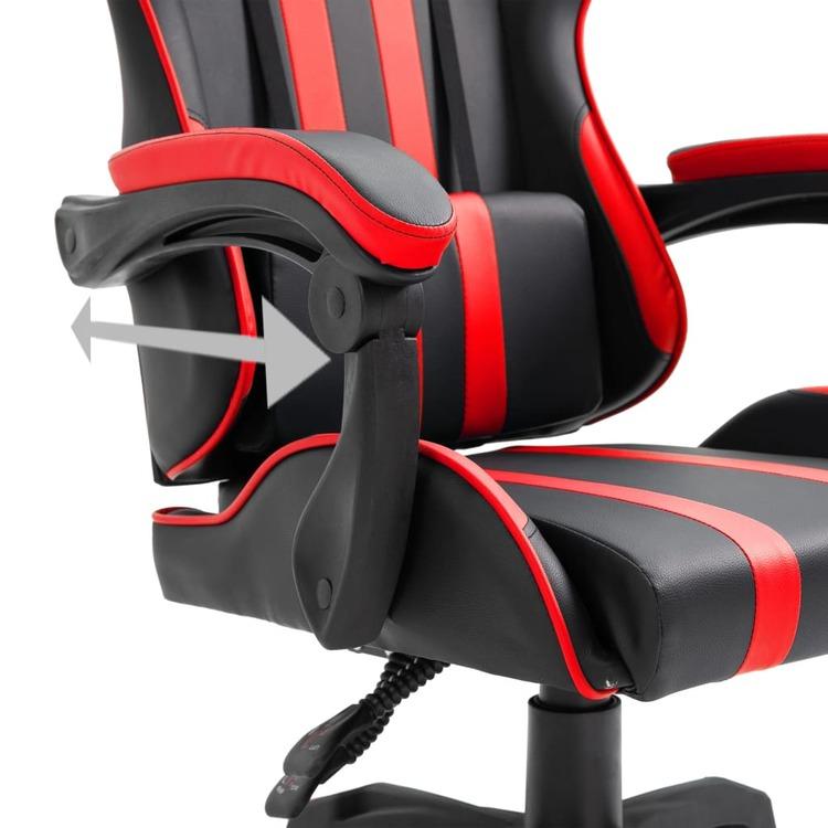 Gamingstol röd konstläder