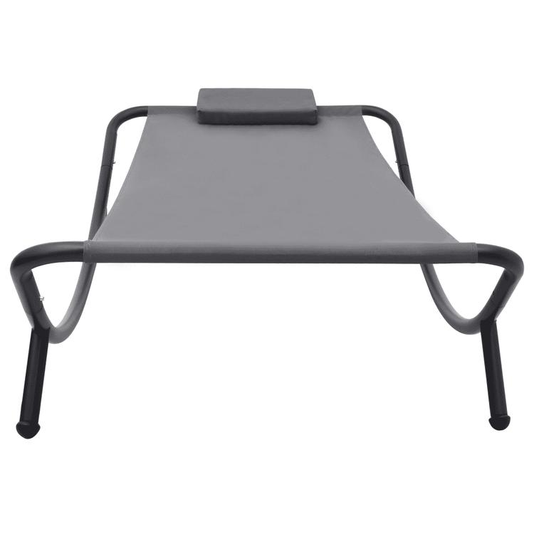 Trädgårdssäng grå 200x90 cm stål