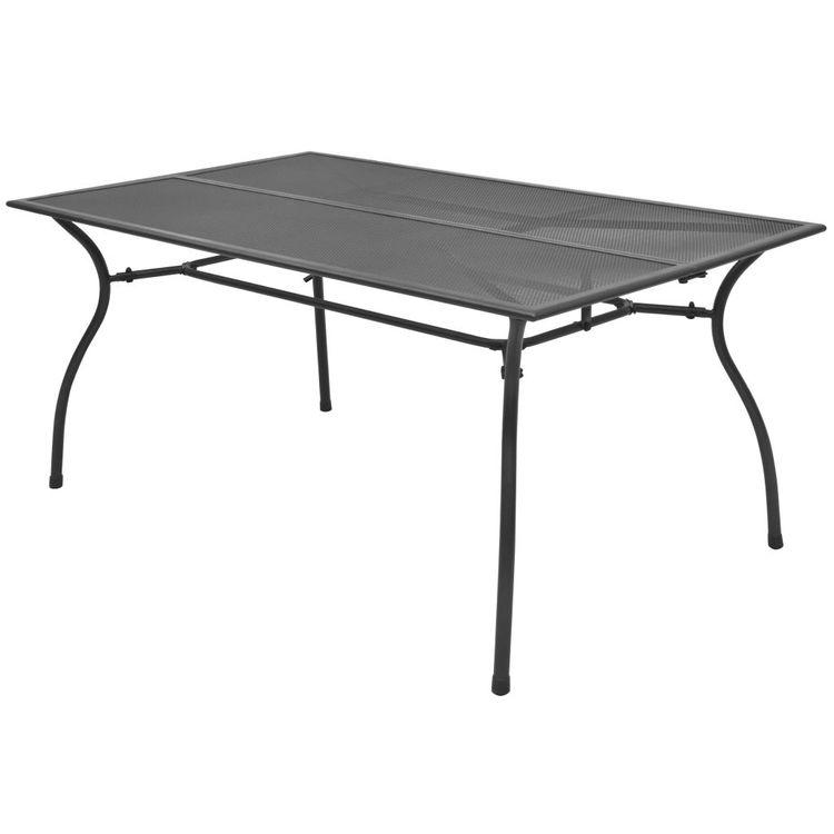 Trädgårdsbord 150x90x72 cm stålnät
