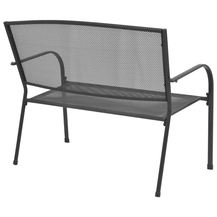 Trädgårdsbänk 108 cm stål och nät antracit