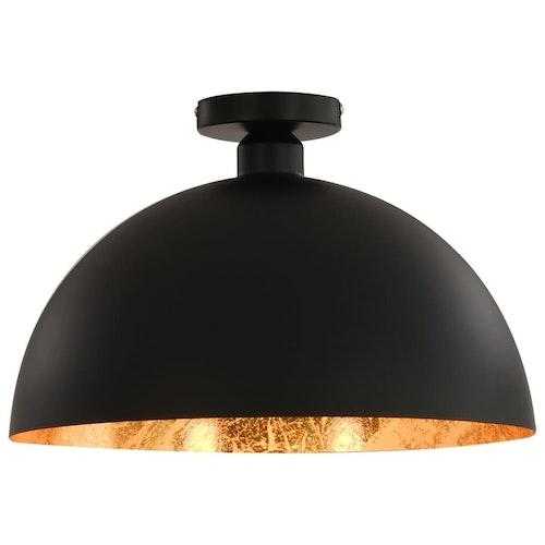 Taklampor 2 st svart och guld halvrunda E27