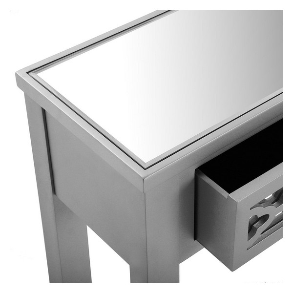 Hallmöbel med 2 lådor silke trä MDF/Granträ