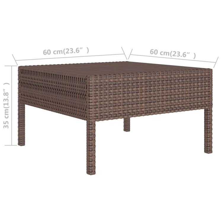 Loungegrupp för trädgården med dynor 10 delar konstrotting brun
