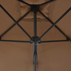 Trädgårdsparasoll med stålstång 300 cm taupe