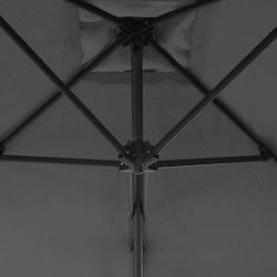 Trädgårdsparasoll med stålstång 250x250 cm antracit