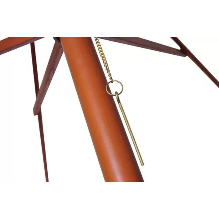 Parasoll 300x258 cm vit