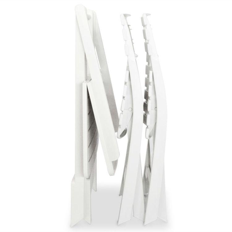 Hopfällbart caféset 3 delar plast vit