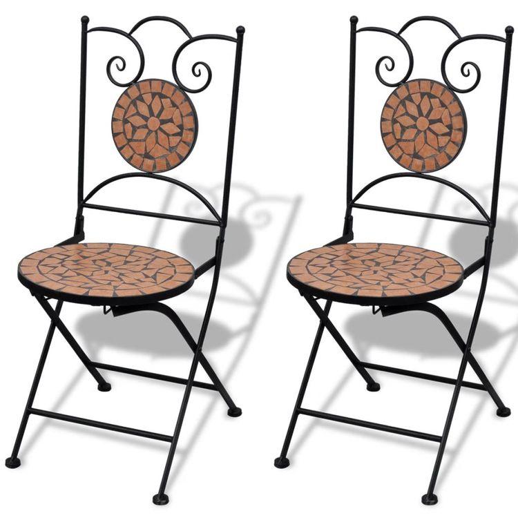 Caféset 3 delar keramik terrakotta