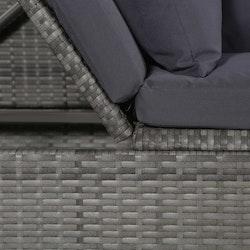 Solsäng 200x60 cm konstrotting grå