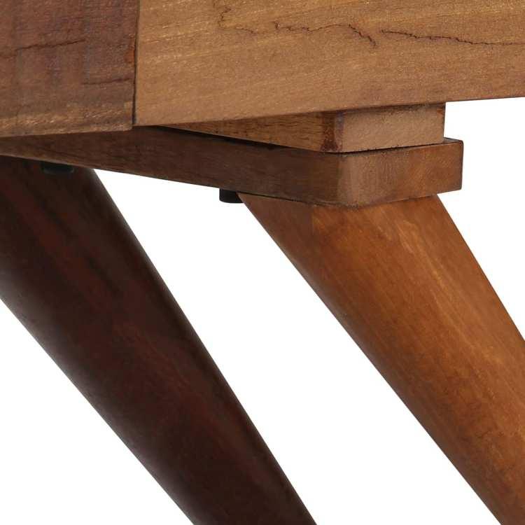 Skänk massivt återvunnet trä brun 110x30x75 cm