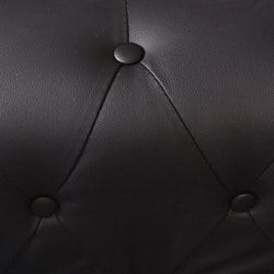 5 sitsig Chesterfield hörnsoffa konstläder svart