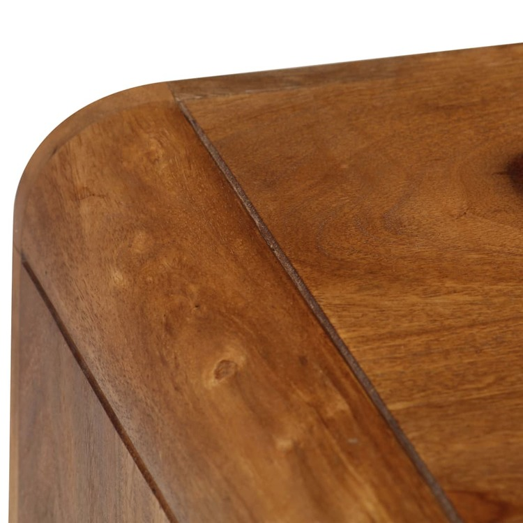 Soffbord massivt sheshamträ 95x40x45 cm
