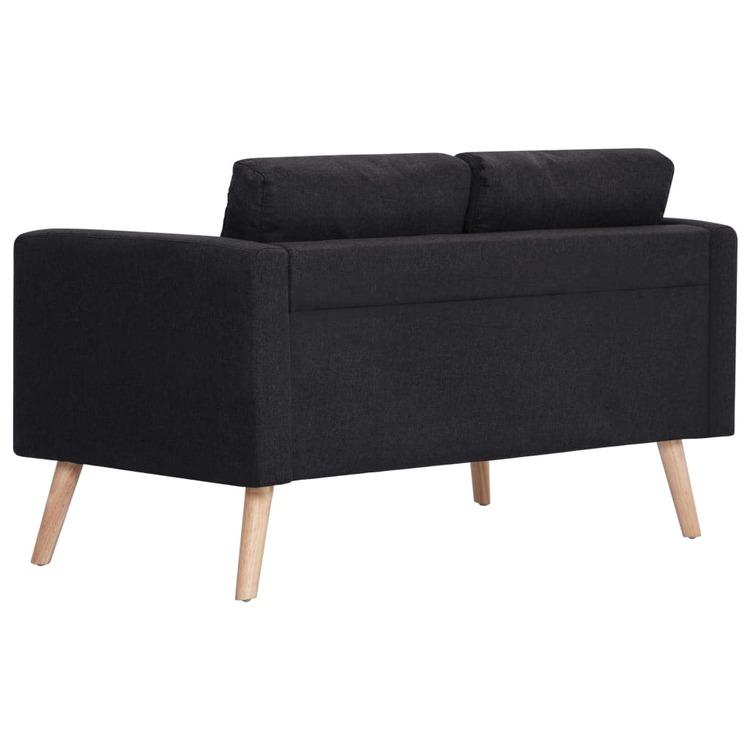 2-sitssoffa tyg svart