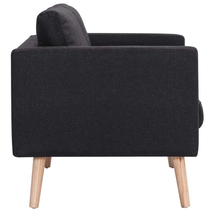 3-sitssoffa tyg svart