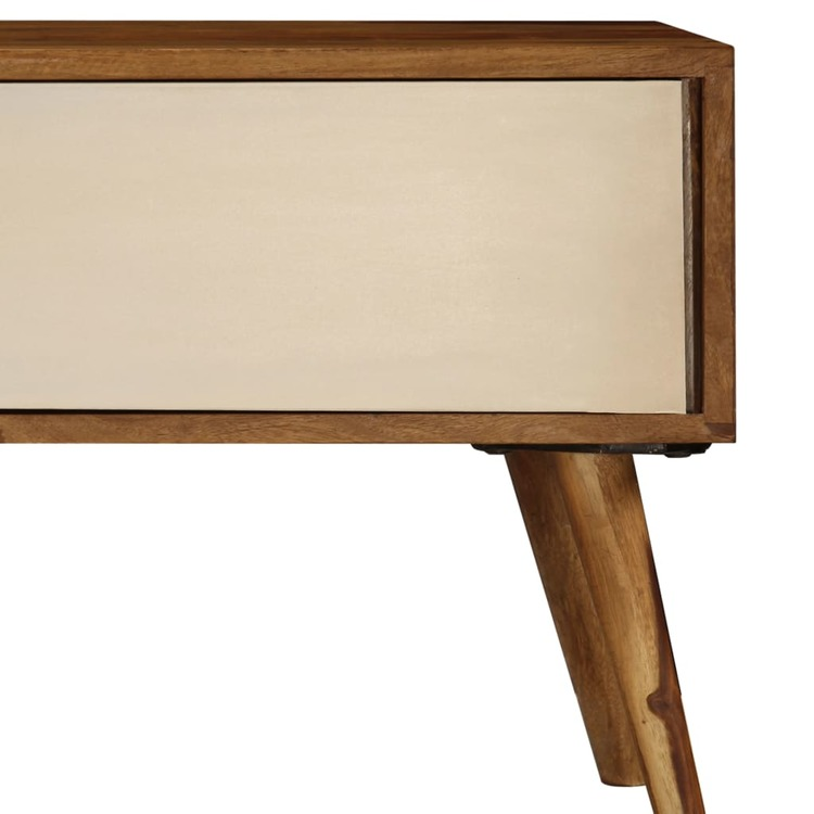 TV-bänk 140x50x35 cm massivt sheshamträ